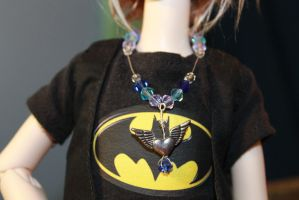 Winged Heart Necklace BJD MSD by TheNatchan