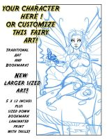 YCH Fairy Bookmark and Art Auction by lady-cybercat