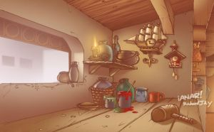 Geppotto's house interior 2 by iANAR