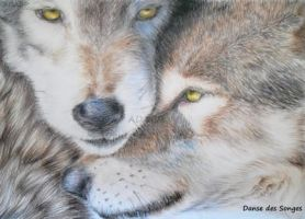 Loups Wolves by DansedesSonges