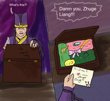 Zhuge Liang's a Meanie by chiri-ken