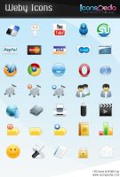 100 free icons Weby Icon Set by Doru94