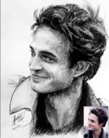 robert pattinson portrait by LilDevilAriel