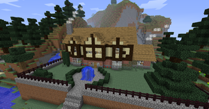 Minecraft Tudor Mansion by NiegelvonWolf
