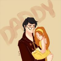 Harry Potter and Lily Potter by littleredlynx