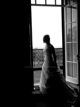 bridal silhouette by Monk3Girl
