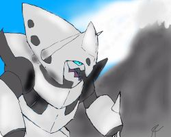Mega Aggron Tablet Drawing by Joshuhare