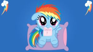 Wallpaper Fillie Rainbow Dash want be my Daddy? by Barrfind