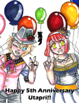 Happy 5th Anniversary Utapri! by HandxPalm