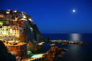 Cinque Terra at Night by LeighWhittaker