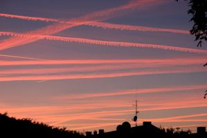 planes in the evening by jost1