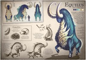 Equilus Model Sheet by goldfishkang