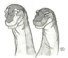 Littlefoot's parents doodle by Stray-Sketches