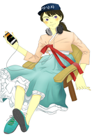 hanbok girl gets a smartphone by SwitchOnOff