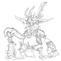 Goblin Chieftain by Equussapiens
