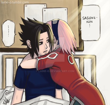 SasuSaku Hospital Scene by Laine-O