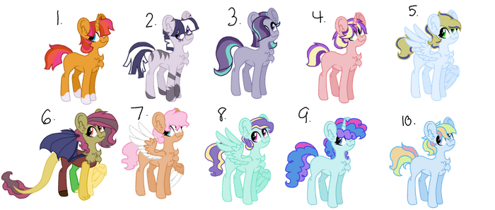 MLP Next Gen Adoptables {CLOSED} by superponymon