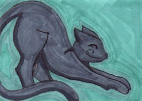 Creep Cat ATC 2 by anne-t-cats