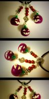 Purple Jack-O-Lantern Necklace by mayel411
