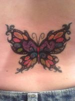 Butterfly Tattoo Tribal wColor by hippieman1234