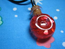 A Vial of Love Pendant by skookyspry