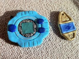 Digivice and Tag ~ by dad-dodo