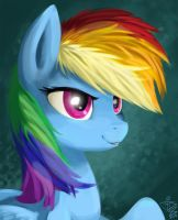 Rainbow Dash Speedpaint Portrait by FidzFox