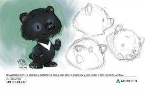 Formosa Black Bear as cartoon character by EJ-Su