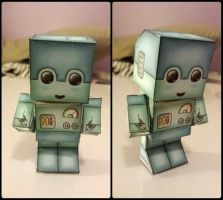 Finnished Robot Chibi Paper Craft by xXShadow-FangxXx