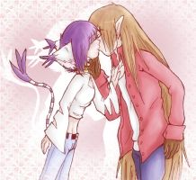 WizTail: Sweet Kiss by MooFrog44