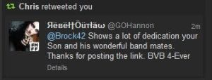 Andy Biersack's Father Chris Retweeted me by DJ-Kitt-Morgue-13