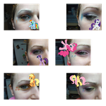 Mane Six eye makeup by shelle-chii