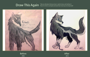 Draw This Again: Wolf Link by Lizzichu