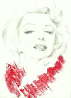 marilyn monroe sketch by nakedcrayon23