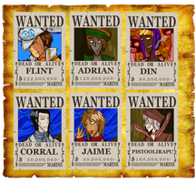 Flint's crew Wanted Posters by Pahisman