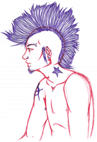 SKETCH. Punk by syd-vicious29