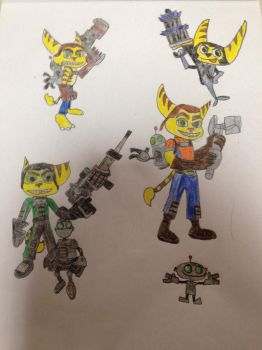 My Ratchet and Clank drawings by Prince5s