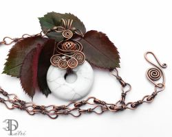 *SOLD* Wire Wrapped Howlite Necklace by DesignByPatri