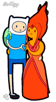 Finn and Flame Princess by StarTrippy