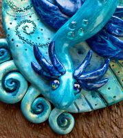 Water Dragon Wall Hanger by MaryBunnie