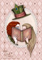 Alice+Hatter_Book lovers by ArinaFoxy