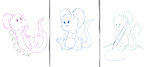 Mouse sketches by 041744