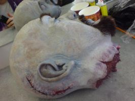 Head prop side view Lobotomy Scar by Catzombies