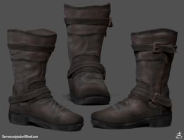 Textured Boots by DTHerculean