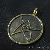 Bronze Elder Sign pendant by Sulislaw