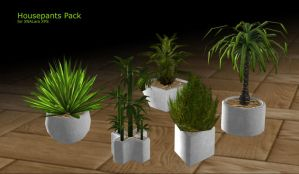 Houseplants for XPS by RonDoe