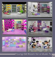 Room of a young Girl for TV by alliserdem