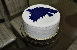 My House Stark cake by QueenBrooke