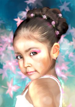 My first work/Ballet girl face by Poison996