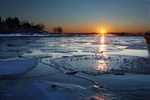 Icy Sunset in Blue by shayne-gray